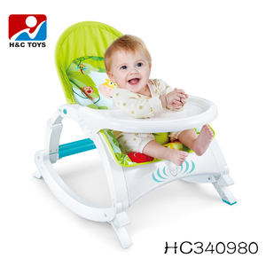 High quality new portable folding baby rocker chair with baby dinning table HC340980