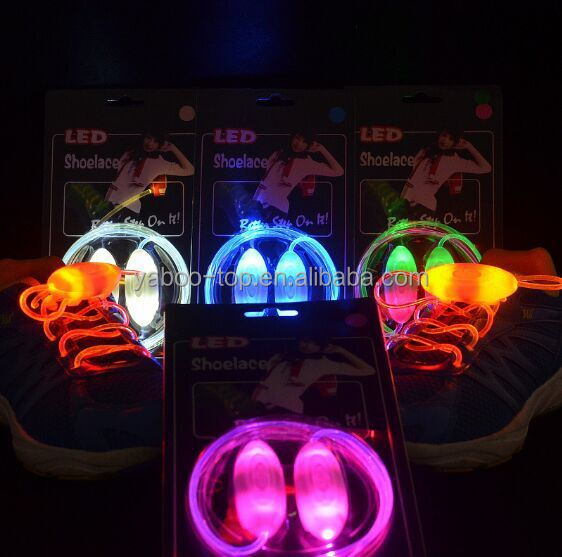 (Hot Model) Low Price Wholesale LED Shoe laces, Fashion Flashing Shoe Laces, Led Shoelace for Party and Gifts