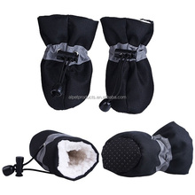 4PCS Dog Boots Warm Pet Paw Protector Socks Anti-Slip Dog Winter Shoes For Small Medium Large Dogs