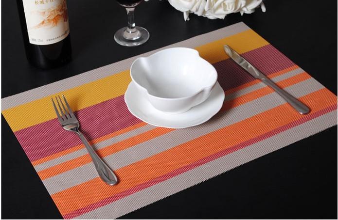 Plain Vinyl Weven Decorative Pvc Placemats Recycled Table