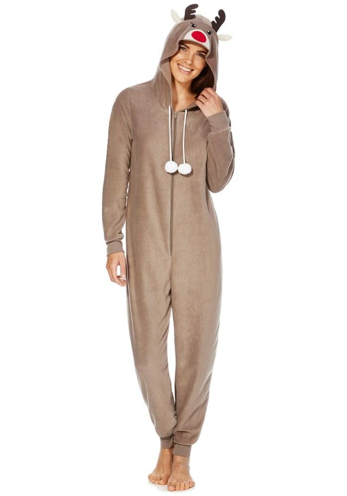 df99aefbfc8f Plain Hood Fleece Adult Reindeer Onesie - Buy Adult Reindeer Onesie ...