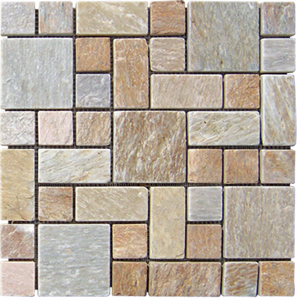 Designs 2017 Natural Gold Stone Slate Mosaic