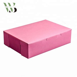 Wowbo packing pink rectangular paper gift box with top quality
