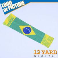 Polyester Brazil nation sport arm sleeve/promotion sport gift arm sleeve