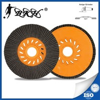 "T27 4.5"" 115x22mm Grit 80 Plastic Backing Plate Flap Disc"