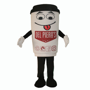 Client own design custom coffee cup mascot costume