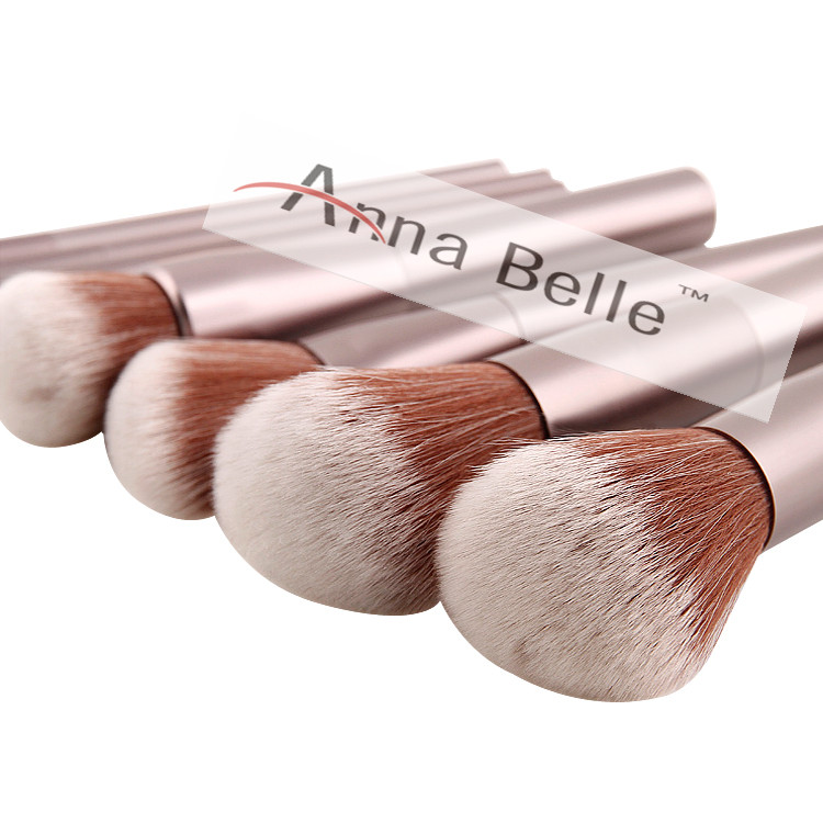 Sample free 8 PCS aluminum professional Cosmetic Makeup Brush Set Make up brushes