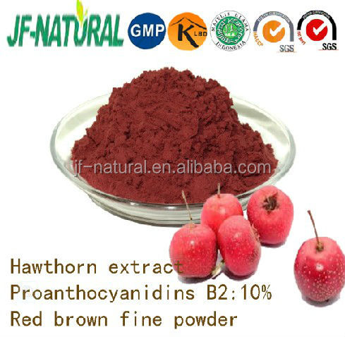100% natural Hawthorn Powder fruit powder ISO, GMP, HACCP, KOSHER, HALAL certificated.