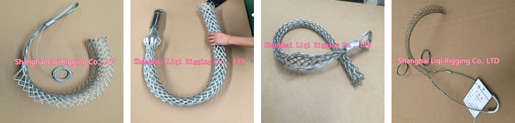 Galvanized Steel Wire Rope Wire Mesh Grip,Cable Pulling Grip - Buy ...