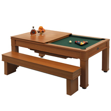 Superior mdf hot sell family used billiard dining pool table for sale