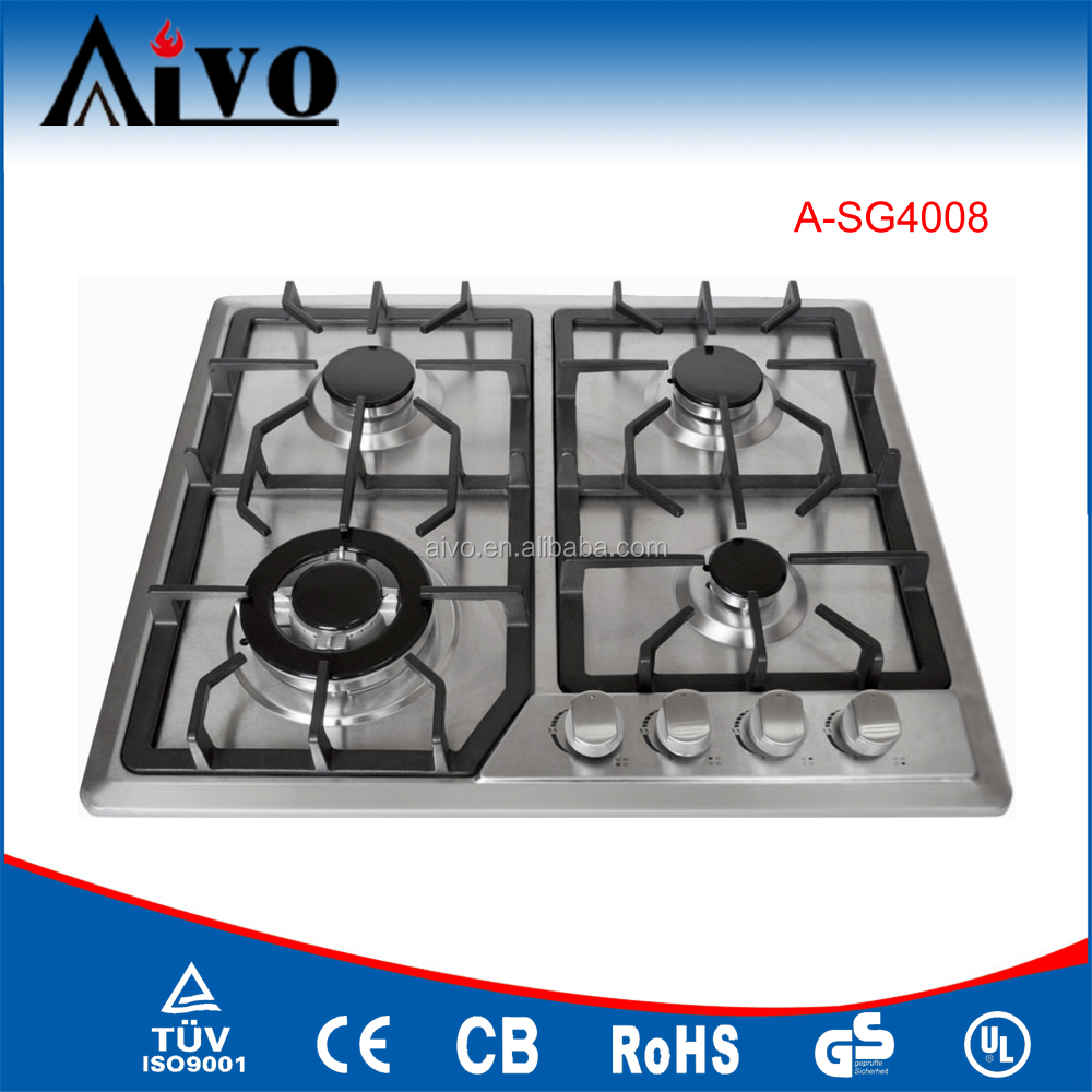 High quality factory supply 4 burner built in gas hob,gas stove, gas cooker with gas oven