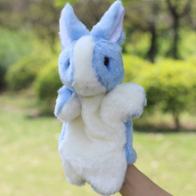 rabbit realistic animal hand push puppets toys