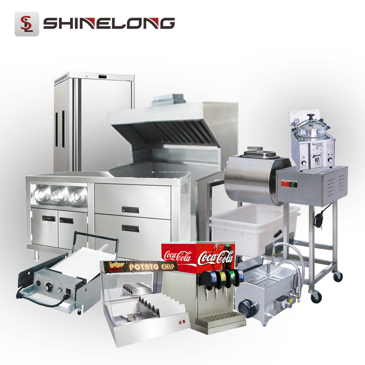 Shinelong Fast Food Restaurant Kitchen Equipment Machines One-Stop Purchase Counter Design