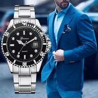 Gonewa Brand 2017 Luxury Famous Men Watch Fashion Calendar Wrist Quartz Watches Alloy Metal Dress Man Clock New Watches