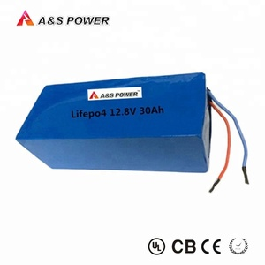 Longer cycle life 12.8V 30Ah LiFePO4 lithium battery pack with BMS