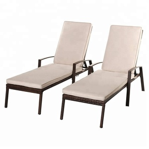 New Design PE Rattan Furniture Hotel Pool Lying Bed Chair Outdoor Patio Sofa Bed