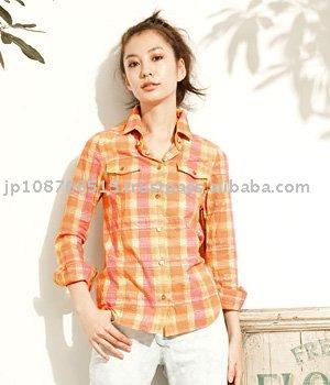 3b22ae6e04 Ladies' Cotton Check Shirts - Buy Ladies Cotton Checked Shirts,Ladies'  Shirts,Ladies' Casual Shirts Product on Alibaba.com