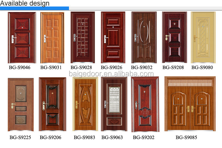 Bg s9231 apartment waterproof exterior door styles view for Residential main door design