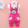 New 2015 Autumn baby girls clothing sets Mickey Minnie Toddler girl clothing Long sleeve t shirt