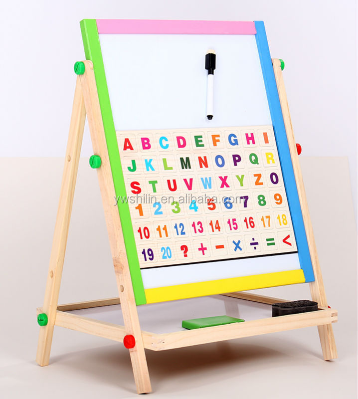 Newest Wooden School Magnetic Whiteboard For Kids