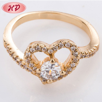 Guangzhou Wholesale Fashion New Style Cheap Rhodium Plated Copper Women Rings