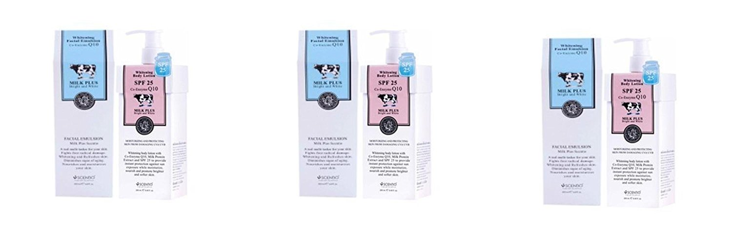 Beauty Set : 3 Units of Scentio: Nora Set - Whitening Body Lotion SPF 25 + Whitening Facial Emulsion Co Enzyme Q10 [Free Facial Hair Epicare Spring A1Remover]