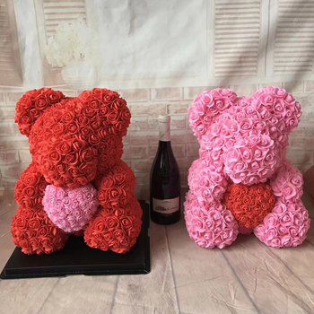 High Quality Preserved Flower Rose Teddy Bear Of Roses Pe For