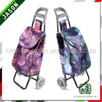 foldable luggage cart innovative promotional shopping trolley bag