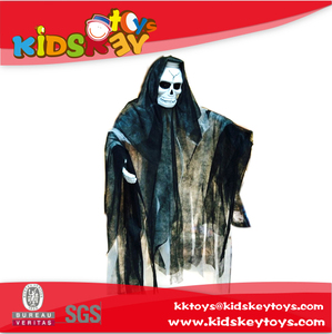 High quality wall halloween toy decorations shock black hanging ghost skeleton toys