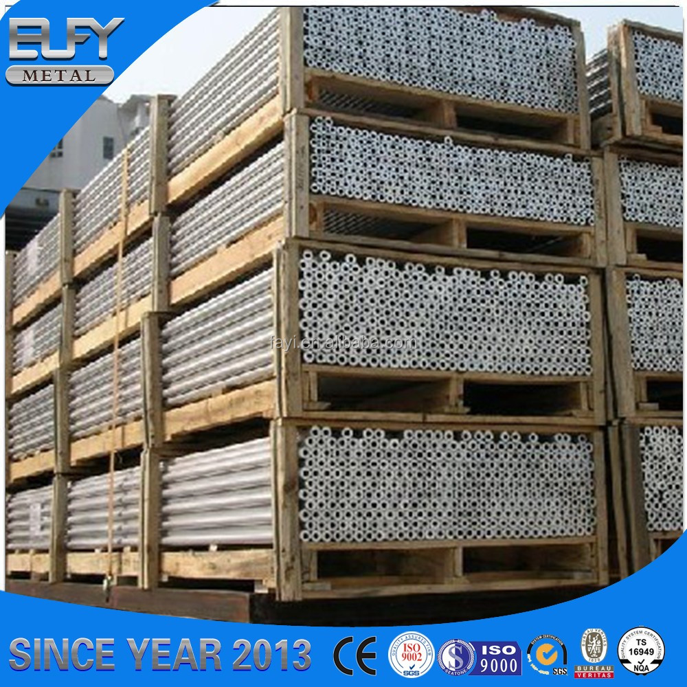 High Quality 6061 T5 Temper Round Aluminum Alloy Extruded Tube Profiles for building