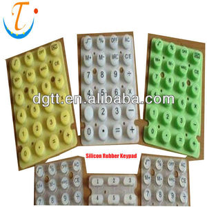 100% custom environmental Telephone Silicone rubber Keypad