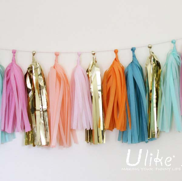 Wholesale Tassel Garland Tissue Paper Tassels Party Garlands Diy Kits Bags Of Tissue Gift Wrap Buy Paper Tassels Party Garlands Diy Kits Bags Of