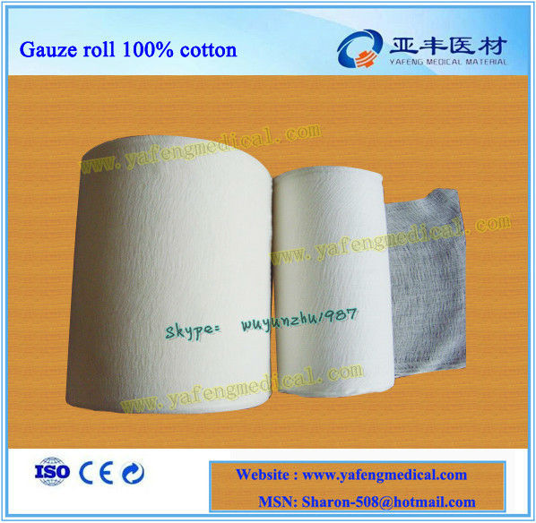 Factory of 24x20 medical cotton gauze in rolls
