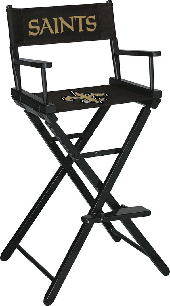 Imperial Officially Licensed NFL Merchandise: Directors Chair (Tall, Bar Height), New Orleans Saints