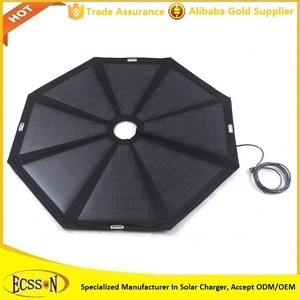 2016 New 50inch cheapest solar charger umbrella for beach patio umbrella, LED lighting beach solar charger umbrella