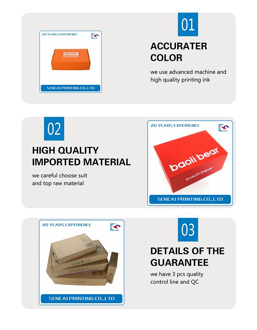 Free Design Custom Wholesale Postal E Flute Kraft Paper Mail