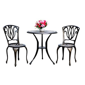 Casting aluminum outdoor furniture table garden sets