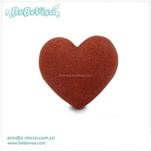Leaving Your Skin Extremely Clean and Refreshed Natural Heart Shape Konjac Sponge