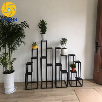 House Decoration Wrought Iron Flower Planters Display Tall