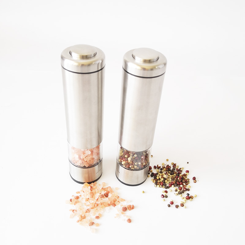 Amazon hot sale automatic salt and pepper grinder set electric salt and pepper mill