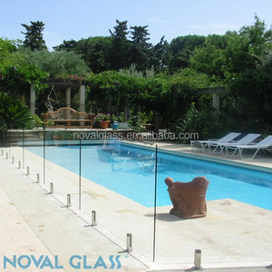 Clear Tempered Glass Pool Fence Panels