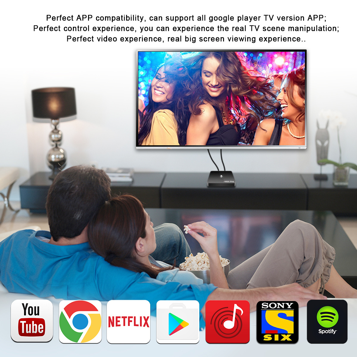 A95X Pro Google Android 7.1 TV Box 2 GB RAM 16 GB ROM 4 K UHD Amlogic Media Player com Controle Remoto de Voz 2.4G wi-fi