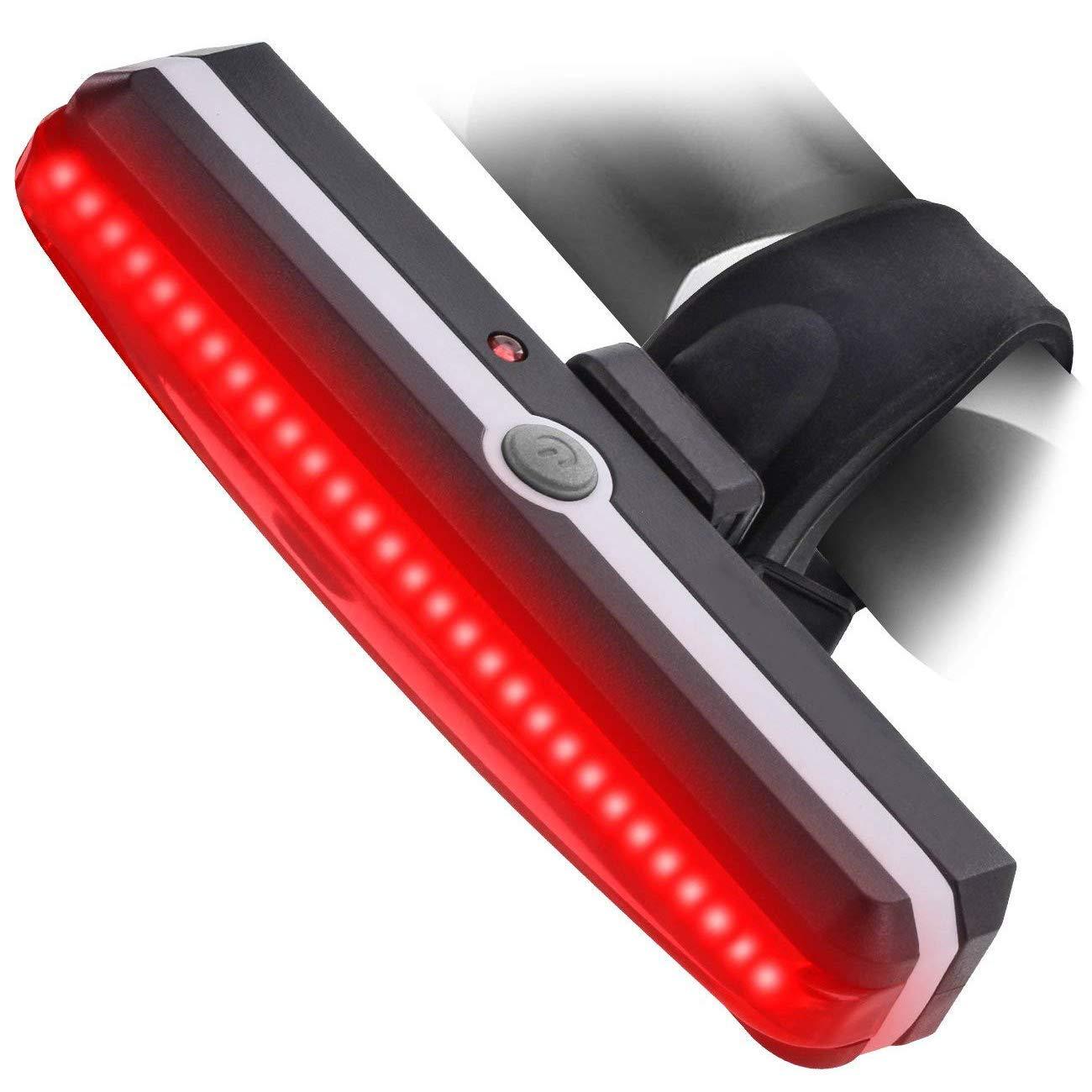 ZOUQILAI Bike Light Super Bright USB Rechargeable Bicycle Tail Light 6 Light Mode Options Rear Bicycle Light Ultra Bright Safety Taillight