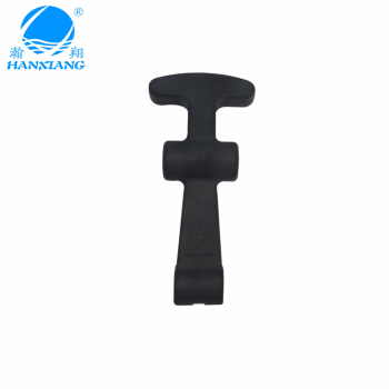 Black rubber latch/fish latch with Stainless steel for heating box