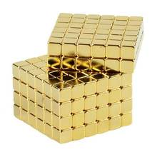Neodym magnet neo cube 5mm Gold magnet cube