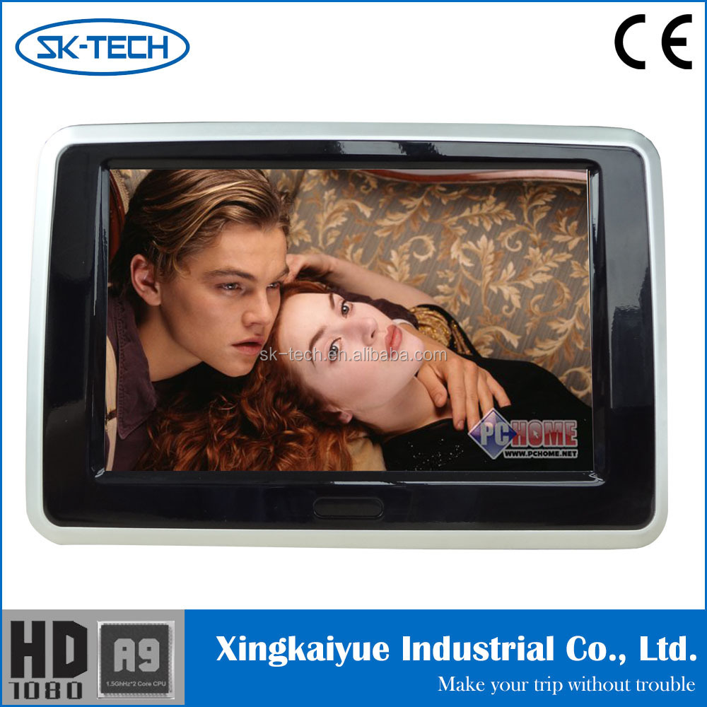 Touch control 9'' car headrest dvd player monitor for vw with capacitive screen