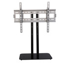 Universal Table Top Glass Base LCD TV Stand with TV Mount