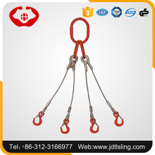 4 leg wire rope sling bridle sling for crane