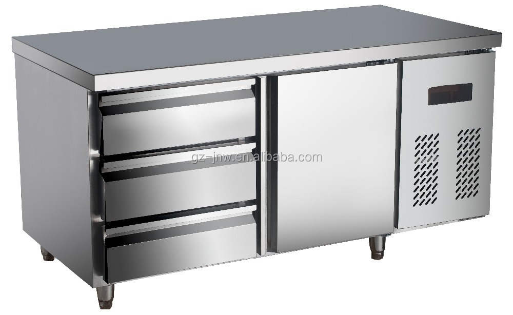 Stainless Steel Under Counter Refrigerator With Drawer