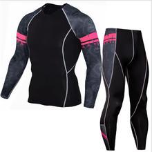 57a5e7594c452 Hombres y adolescentes compresión chándal rashgarda mma de manga larga  medias leggings tácticos ropa interior térmica capa base .